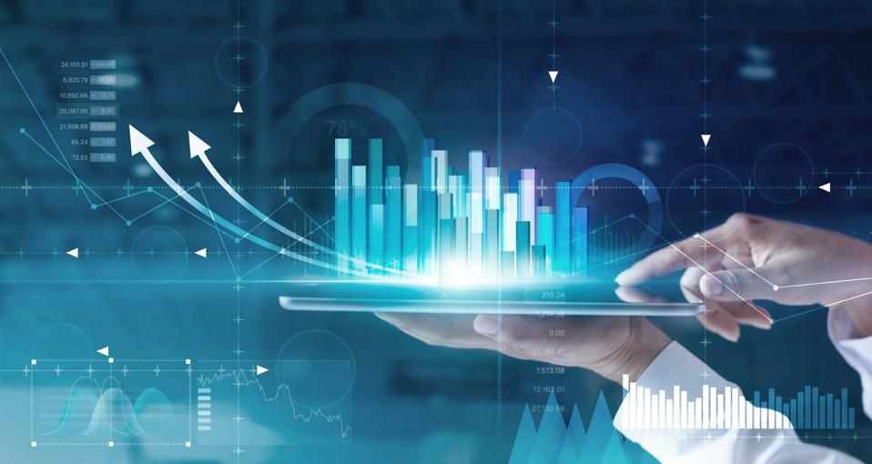 Business strategy and digital data, business technology, digital marketing.