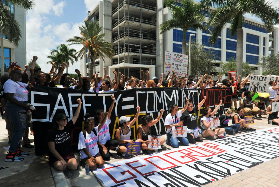 Rally with Dream Defenders and Florida Immigrant Coalition from 2018.