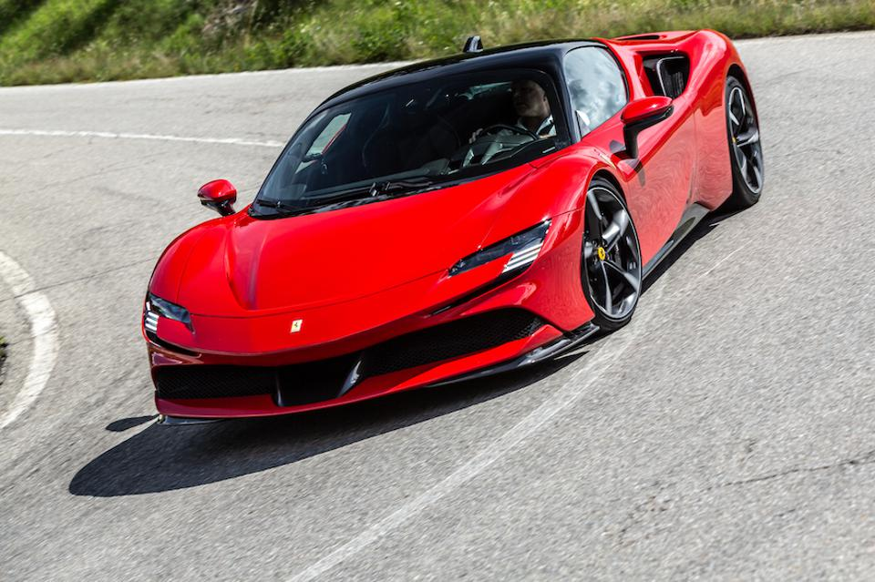 Cornering has never been easier or more impressive than in the Ferrari  SF90 Stradale.