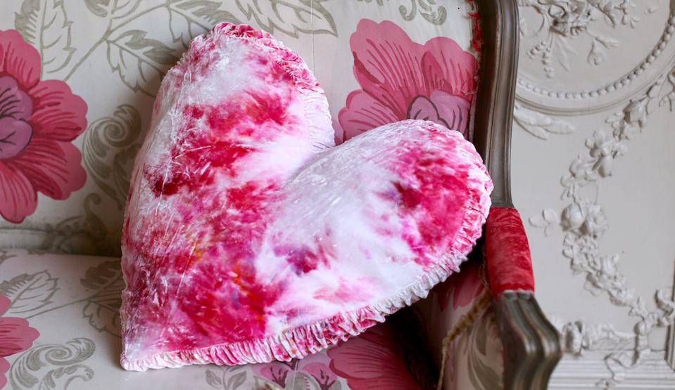 Limited Edition Hearts On Fire Die Dye Pillow