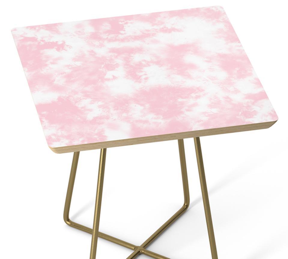 Pink Tie Dye Batik Side Table