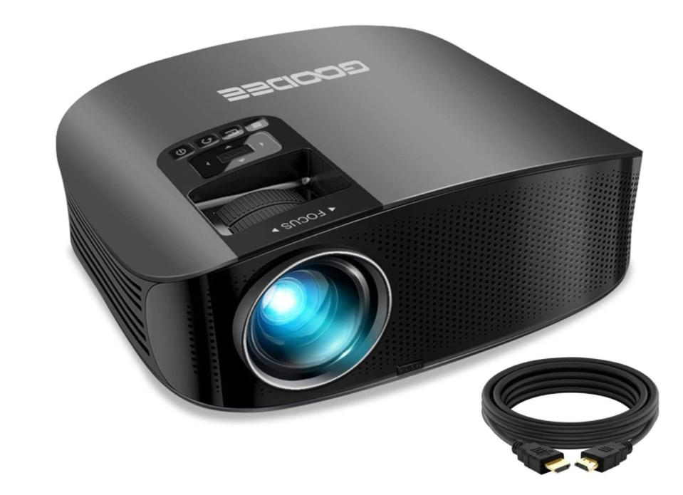 GooDee 2020 Upgrade HD Outdoor Movie Projector