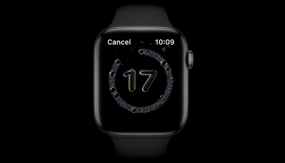 Automatic hand washing app on Apple Watch