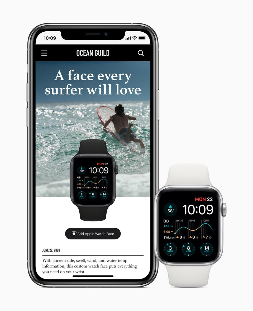 Share Apple Watch faces or download them from websites.