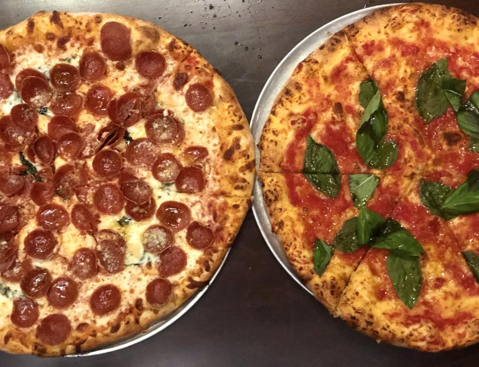N.Y.C Pizza and Margherita Pizza at Mad Bene on Oahu