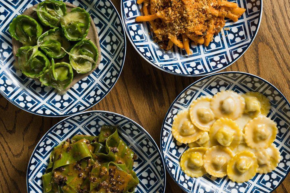 Rezdora's signature pastas are available for takeout and now, outdoor dining