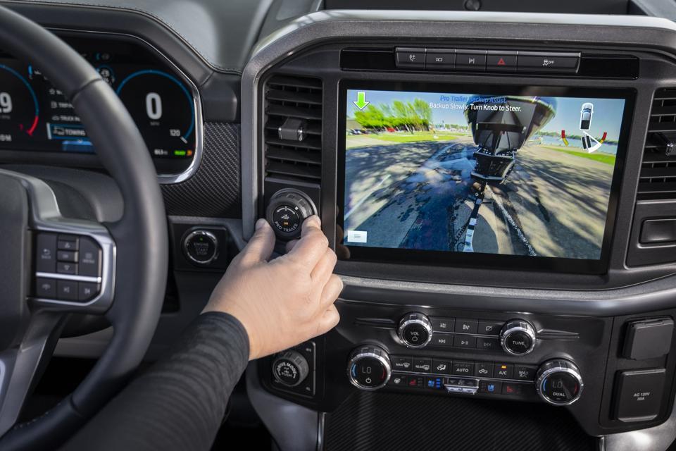 2021 Ford F-150 12-inch display