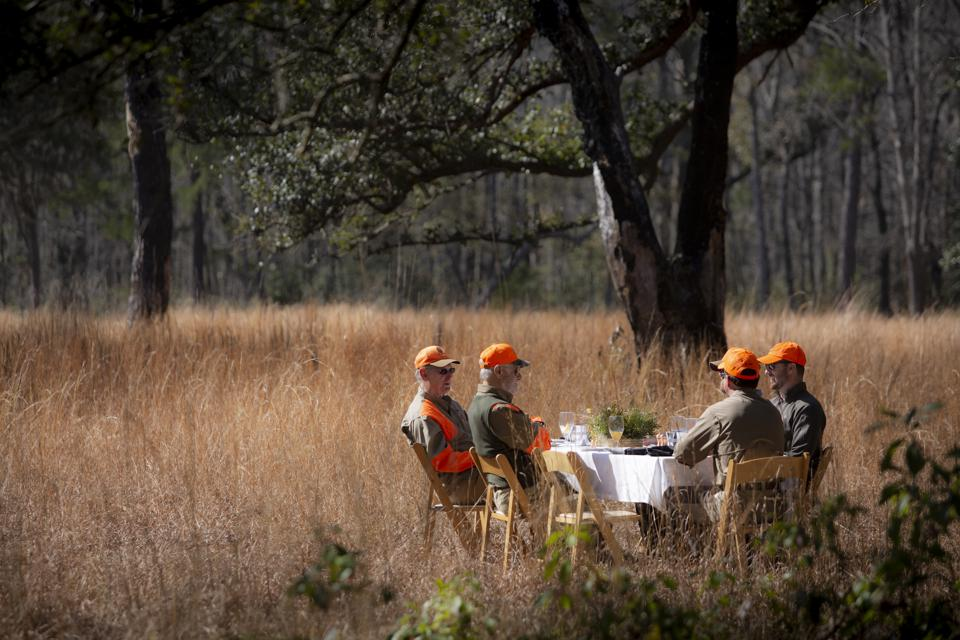 Field lunch for hunters at Brays Island