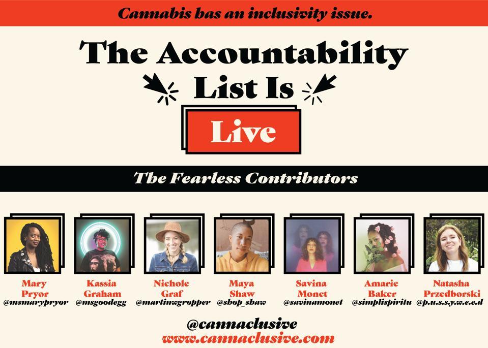 Cannaclusive, Mary Pryor, cannabis justice, cannabis industry, The Accountability List