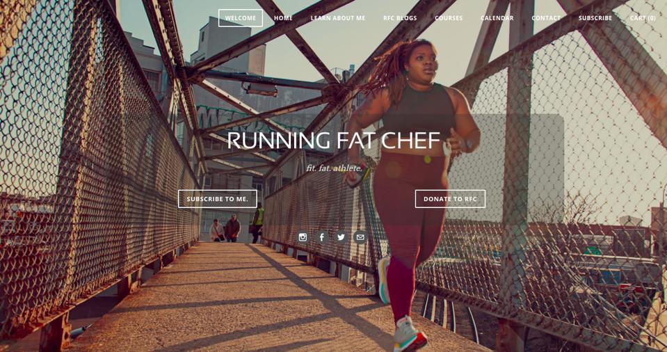 Latoya Shauntay Snell, HOKA Global Athlete Ambassador a.k.a. Running Fat Chef, a 'fit, fat, athlete'.