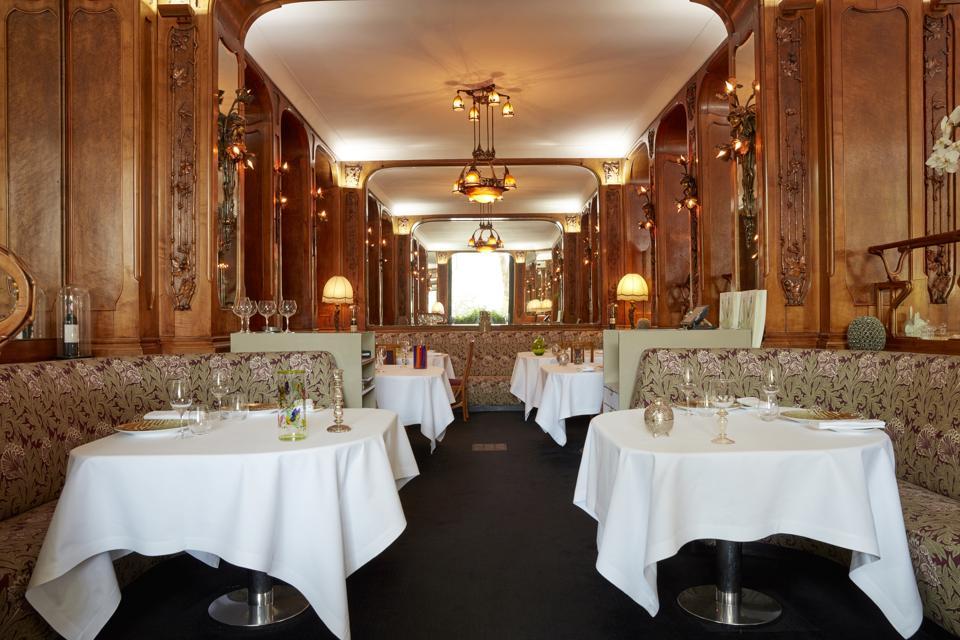 The Art Nouveau interior by Louis Majorelle at Lucas Carton