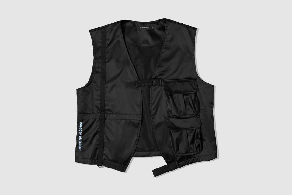 100% Bomber Nylon Vest with 2 Tactical pockets and Velcro fasteners