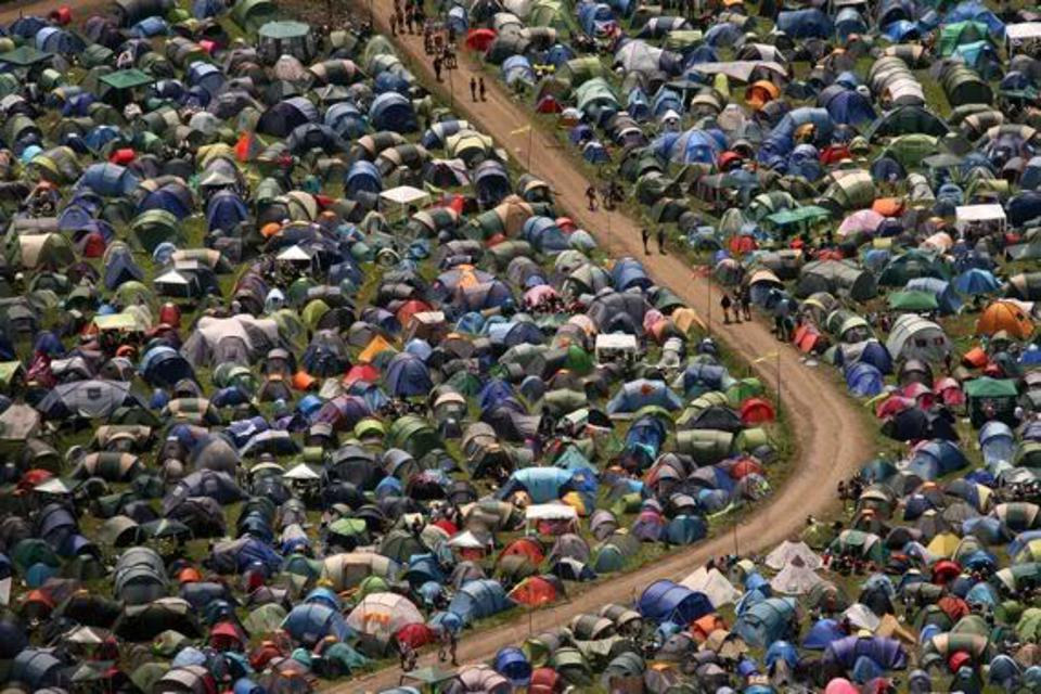 Tents at the 2011 Glastonbury Festival