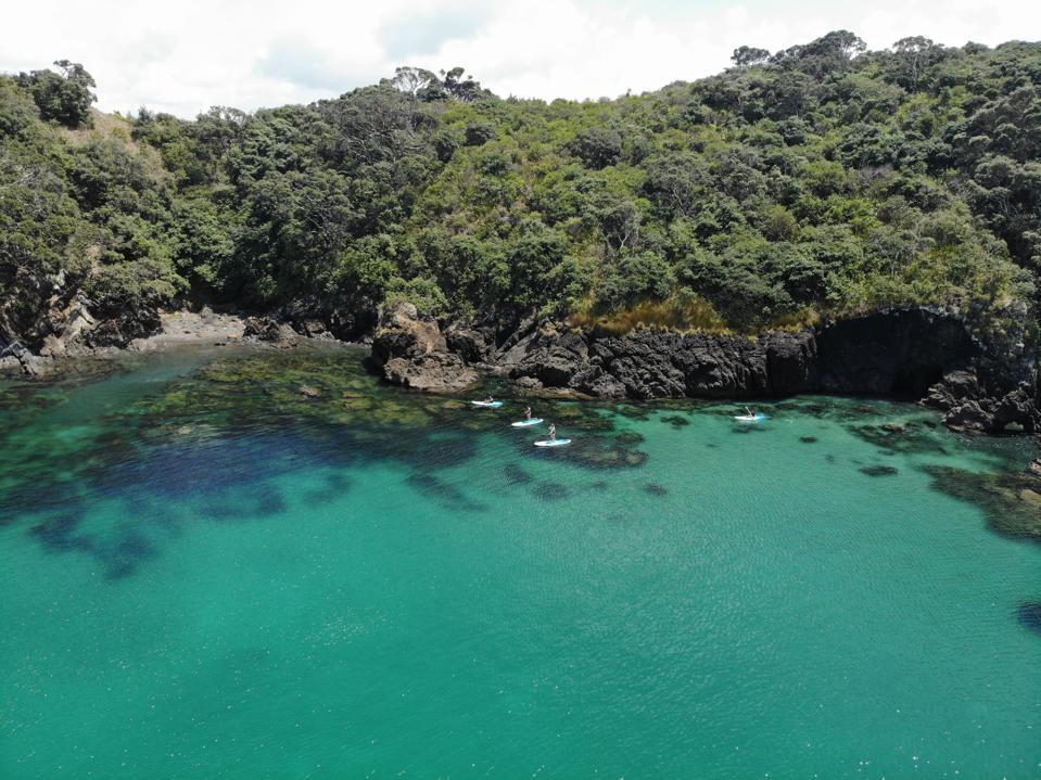 The blue waters near Helena Bay Lodge.