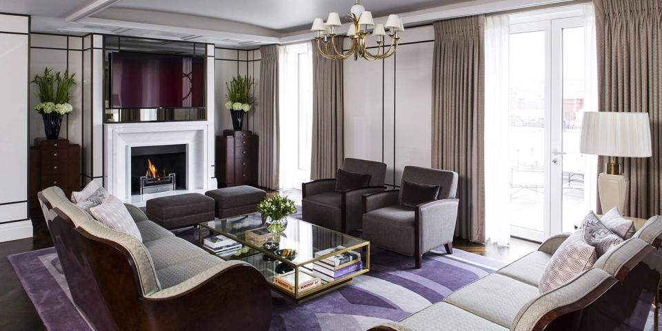 The luxurious suite at The Beaumont.