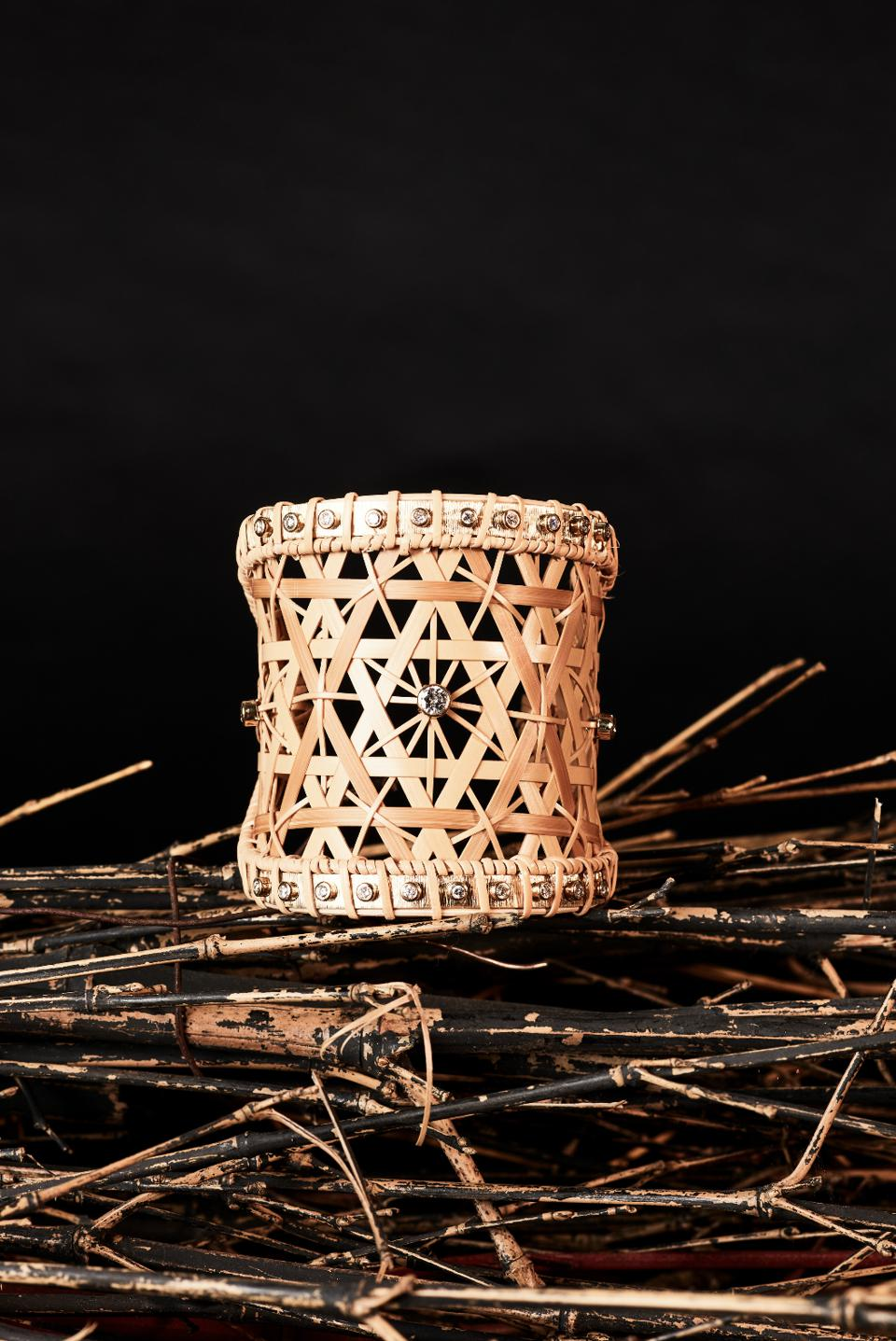 Silvia Furmanovich used weaving techniques to craft exquisite pieces from bamboo