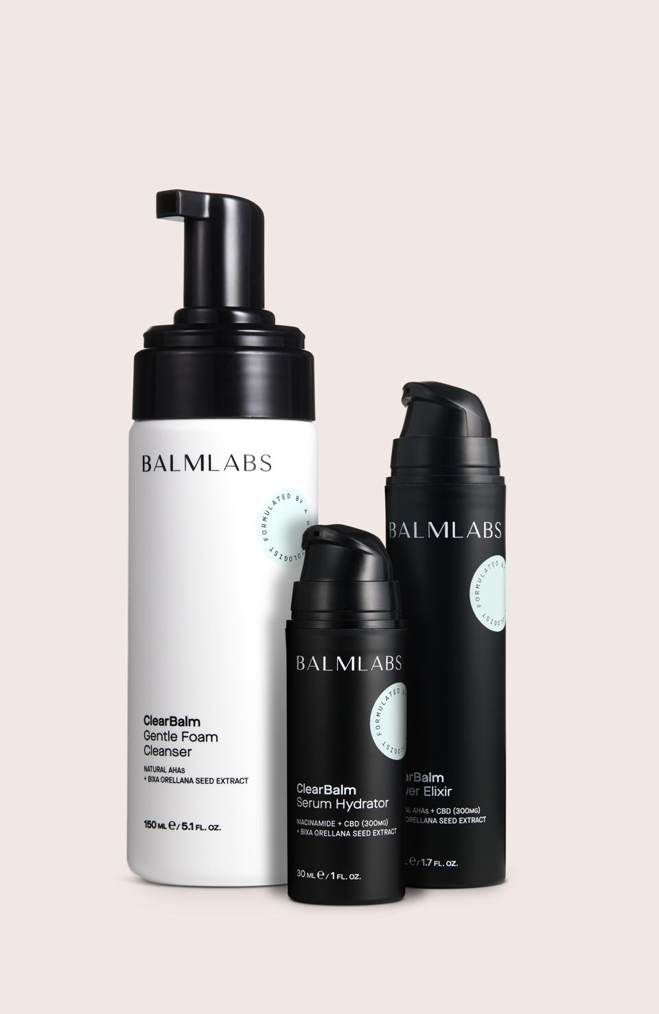 ClearBalm is a ground-breaking 3-step system that cleanses, smooths, revitalizes and improves the look of adult, acne-prone skin without the use of harsh ingredients. Includes Gentle Foam Cleanser, Power Elixir and Serum Hydrator.