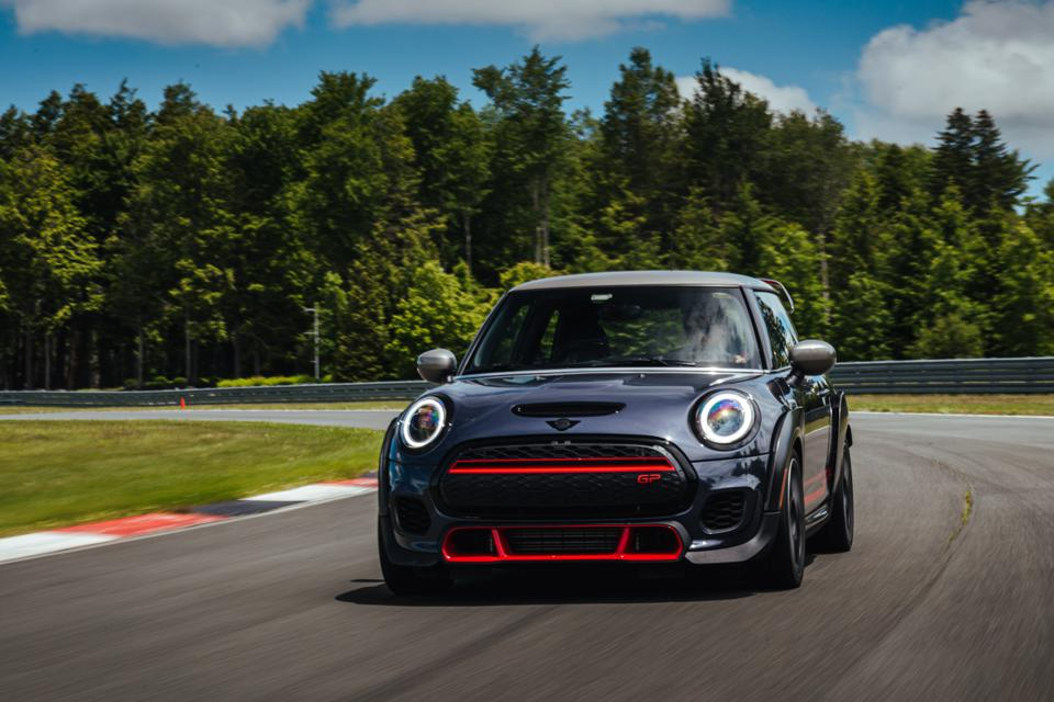 2020 Mini JCW GP on track at Monticello Motor Club in upstate New York