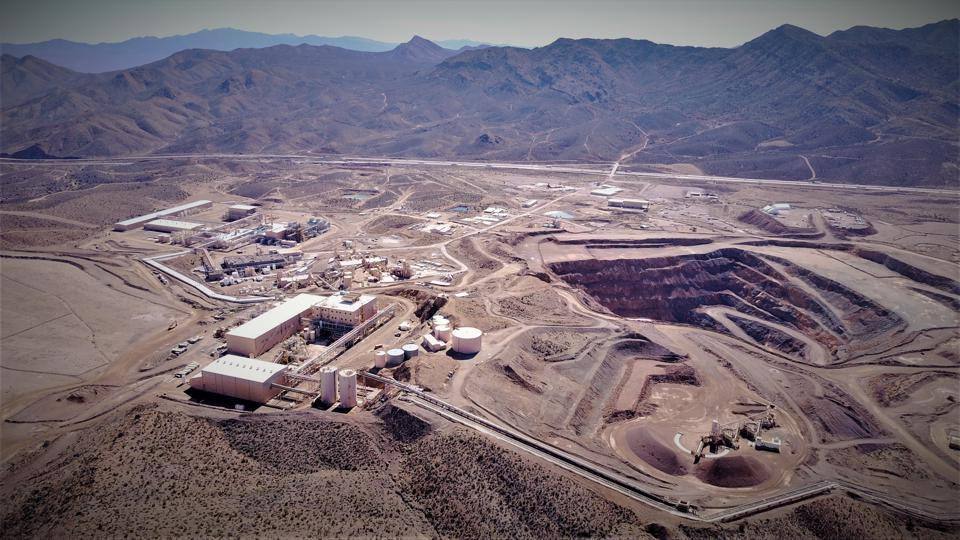 The MP Materials Mountain Pass mine site and processing facility