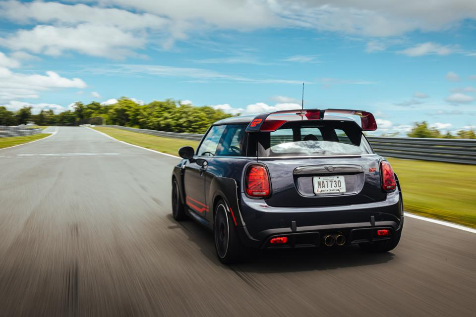 The 2020 Mini John Cooper Works GP on track at Monticello Motor Club in Upstate New York