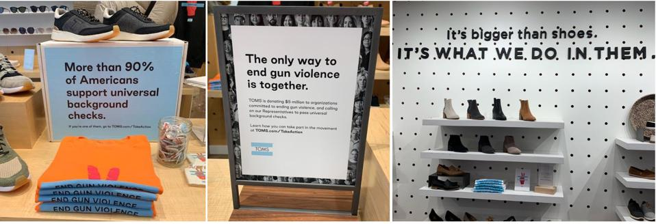 Take Action Messaging in Williamsburg, Brooklyn Store
