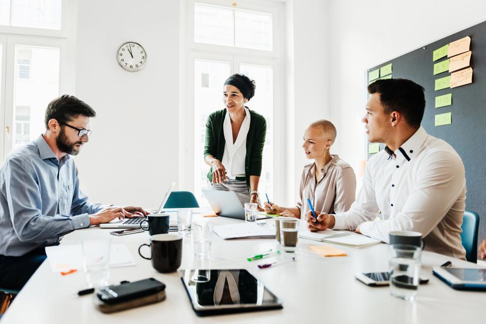 Meeting Between Team Leaders At Office