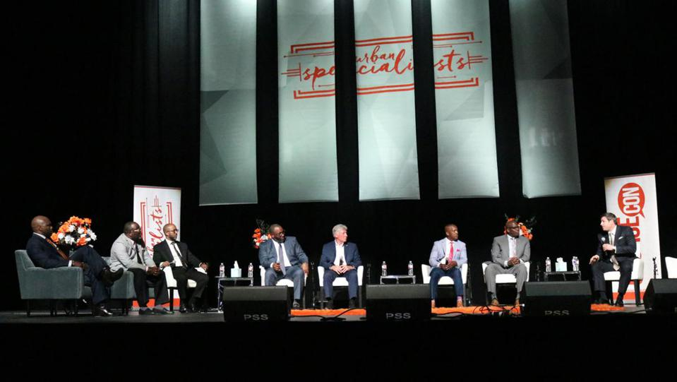 A panel of speakers