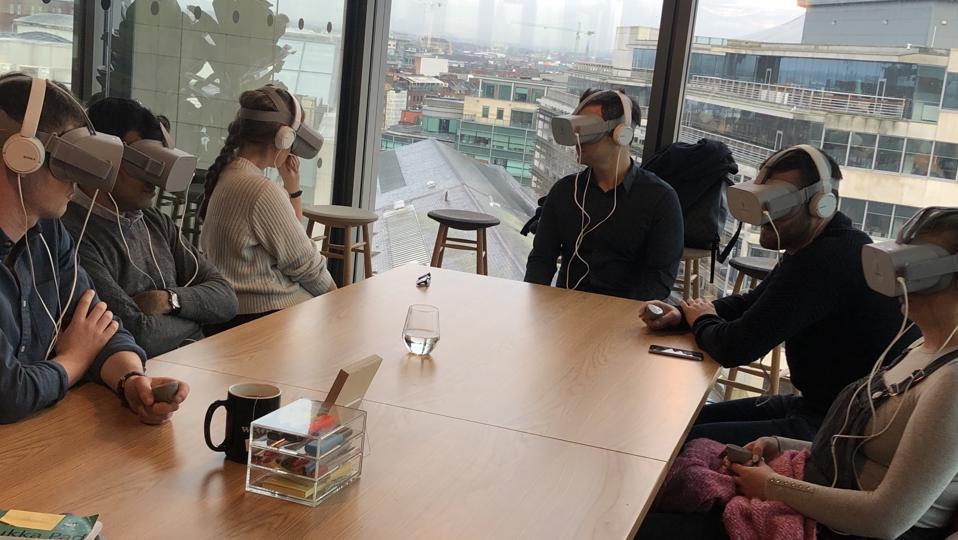 Participants using Vantage Point VR.