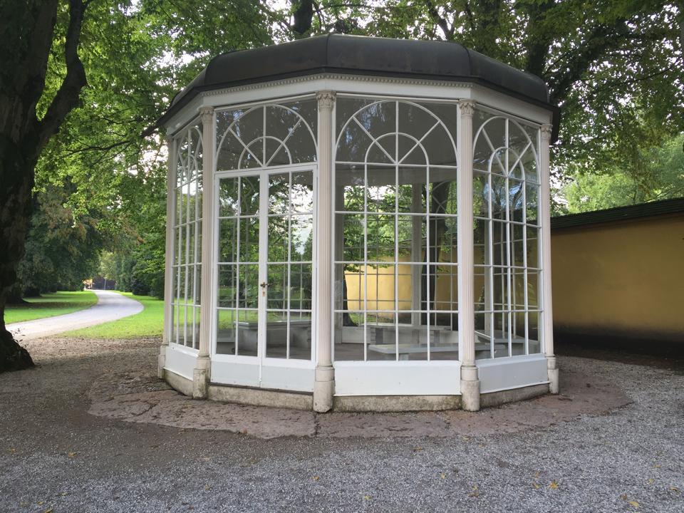 The gazebo from Schloss Hellbrunn in Salzburg, Austria, that was in ″The Sound of Music.″