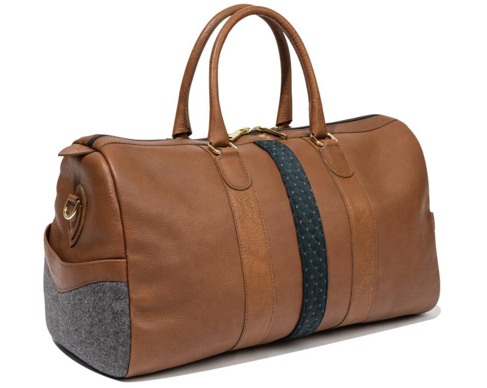leather weekender duffel