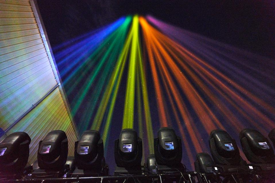 Kind rainbow light display in New York City.