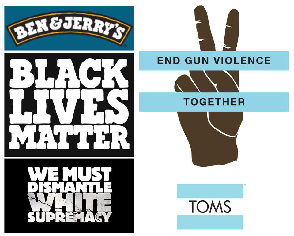 Ben & Jerry's and Toms Brand Purpose Role Models: https://www.benjerry.com/about-us/media-center/dismantle-white-supremacy and toms.com