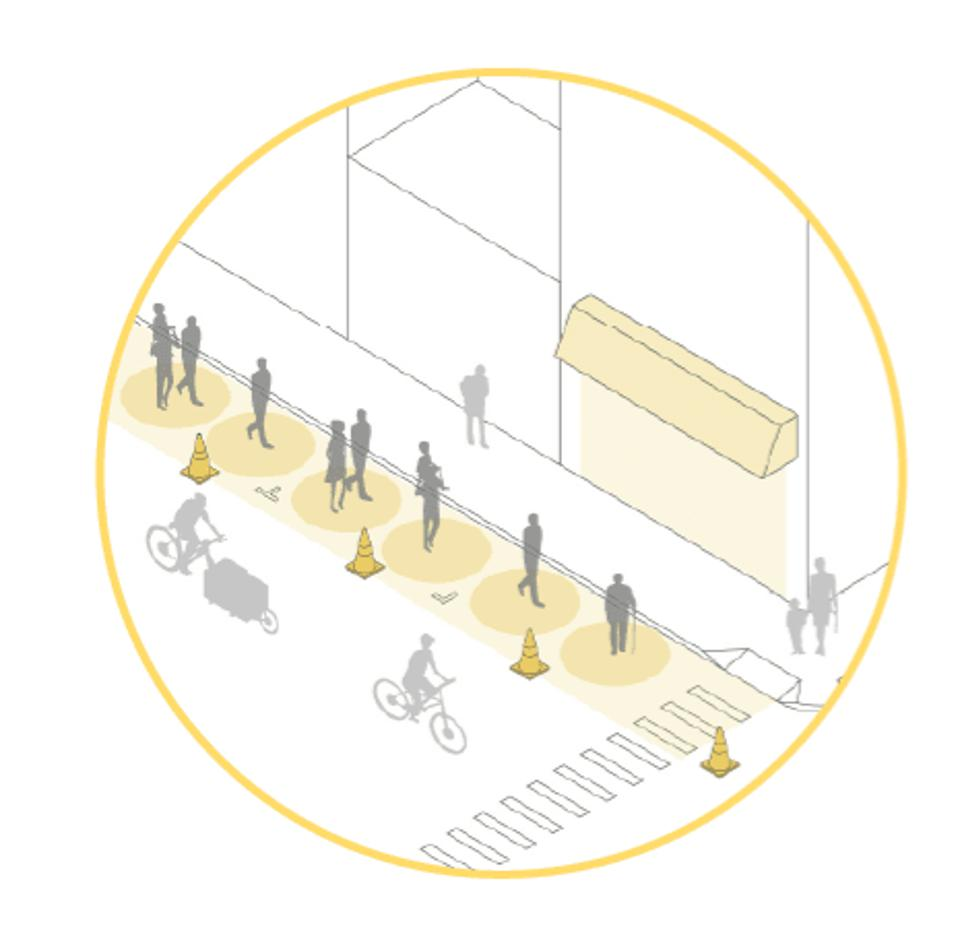 A graphic of street design innovations