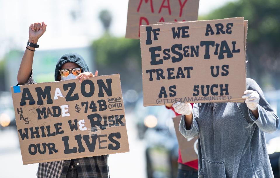 US-HEALTH-VIRUS-AMAZON-DEMONSTRATION