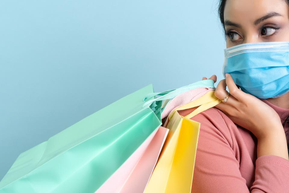 Covid 19 Shopping Mask Women Corona Virus Virus 2019-ncov Prevention Epidemic Wuhan China Communicable Disease
