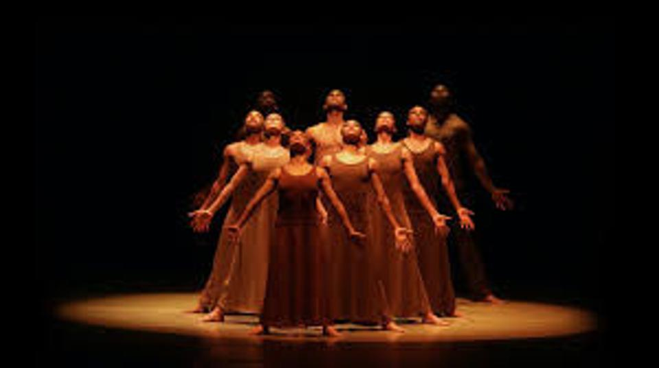Dancers from the Alvin Ailey Troupe performing on Live From Lincoln Center