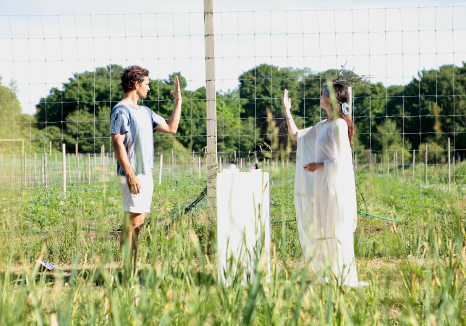 Artist Lia Chavez performs The Order of Things on June 20, 2020 for the opening of Infinite Seed at Bhumi Farms.