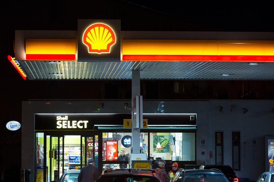 Shell petrol station logo...