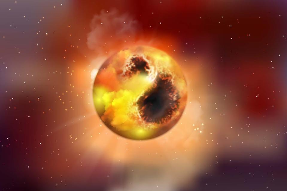 Artist's Impression of Star Spots on Betelgeuse.