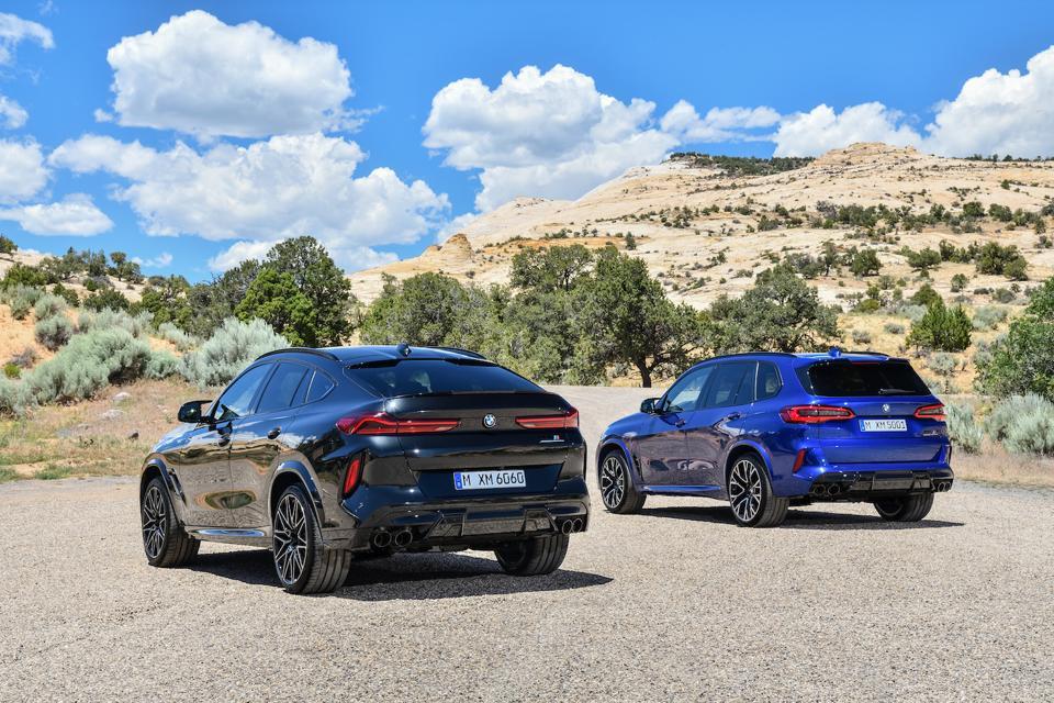 Tall rear ends, tall SUVs, sports-car pace.