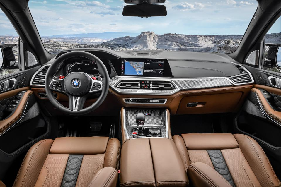 Comfortable and obviously expensive X5M interior atop uncomfortable suspension.