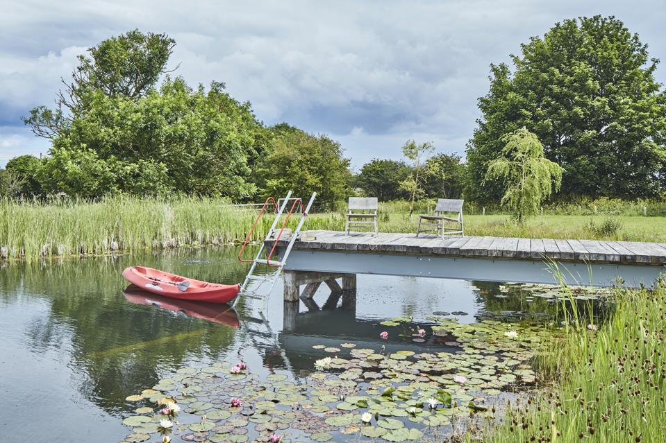 The natural swimming lake