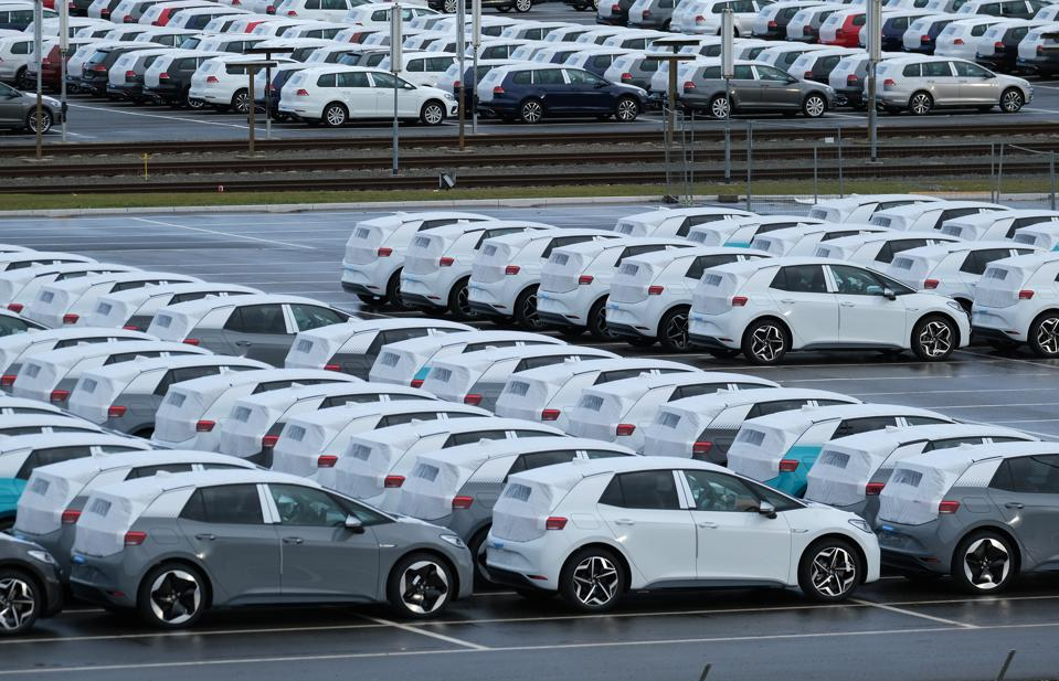Volkswagen is rolling out thousands of pre-production ID.3 electric cars at Zwickau.