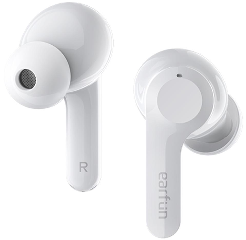 White pair of EarFun Air earphones.