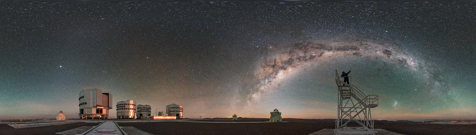 This ESO Picture of the Week shows Paranal  — home to ESO's Very Large Telescope (VLT) — at night.