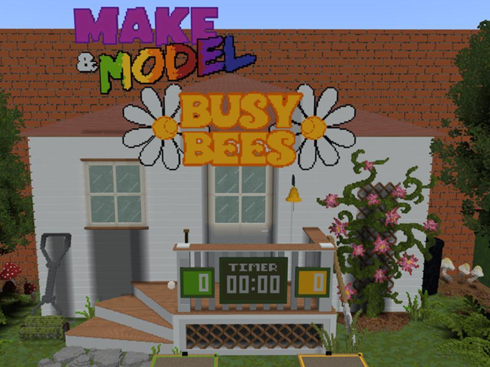 Minecraft Esports Make&Model Busy Bees main screen