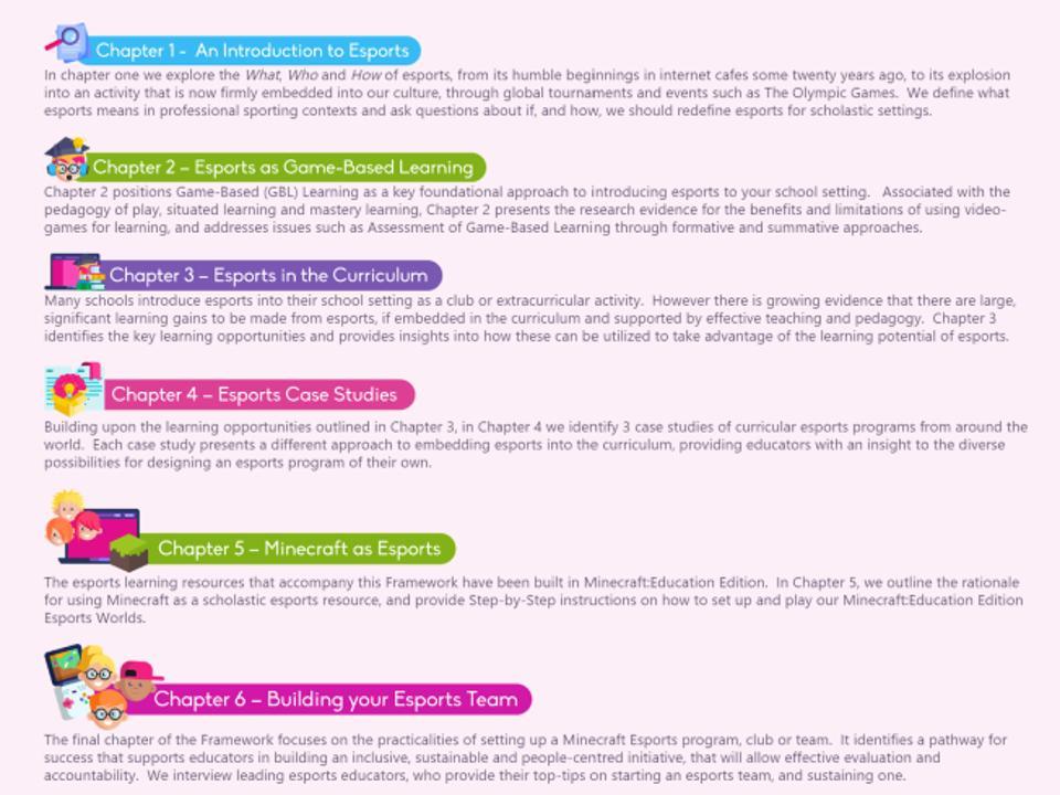 Instructional framework for Minecraft Educator Edition