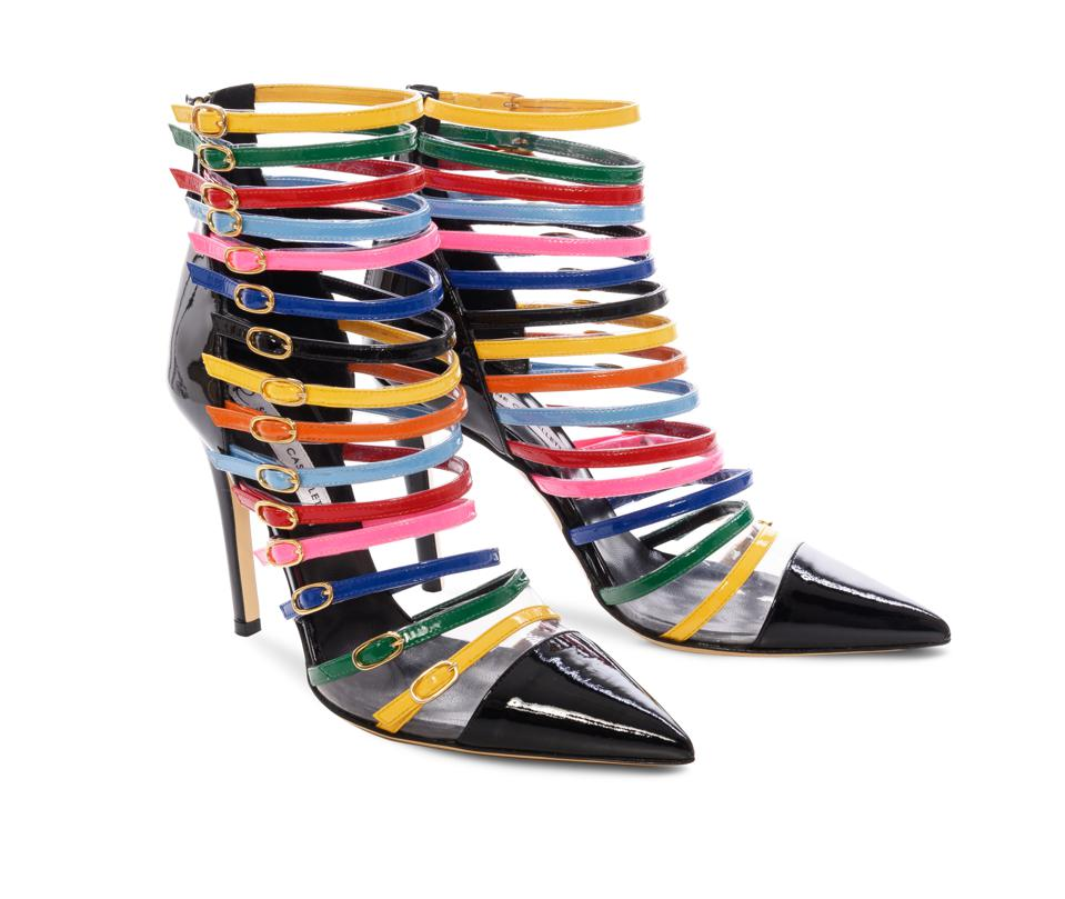 Cindy by Simone Castelletti: ankle boot with coloured straps