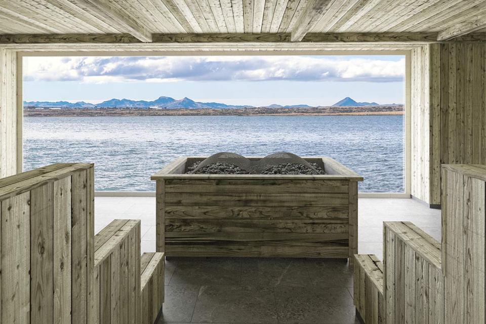Sky Lagoon Iceland sauna view