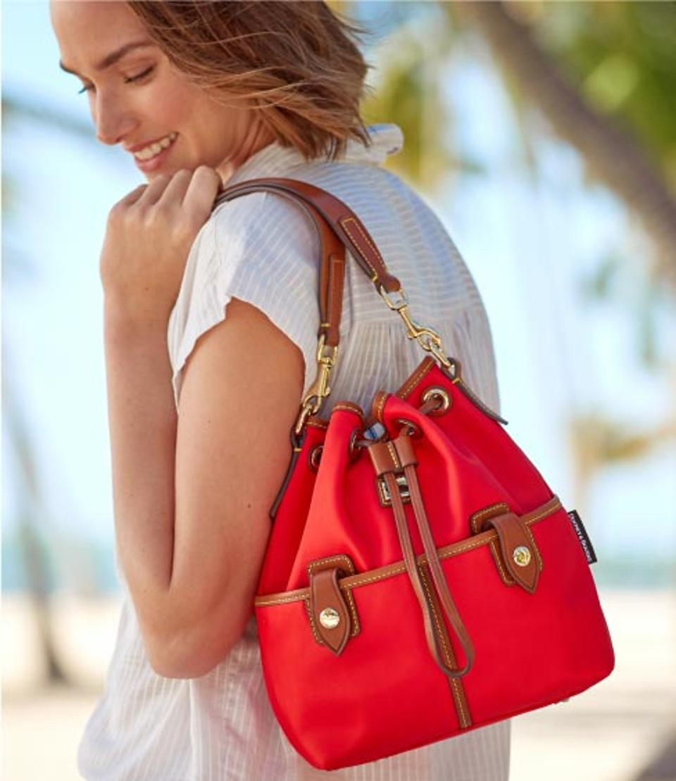 Dooney & Bourke_Wayfarer Large Drawstring in Red